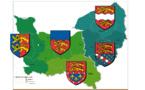 Les cinq minutes de l'héraldique normande — Les départements normands